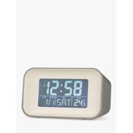 image-Acctim Reflection Display LCD Digital Alarm Clock, Owl Grey
