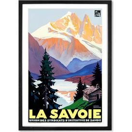 image-La Savoie Vintage Travel Framed Wall Art Print A1, Multi