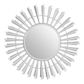 image-Templars Sunburst Effect Wall Bedroom Mirror In Silver Frame