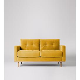 image-Swoon Berlin Two-Seater Sofa in Turmeric Easy Velvet With Light Feet