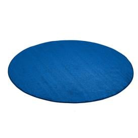 image-Round play mat KALLE, ├ÿ2500 mm, blue