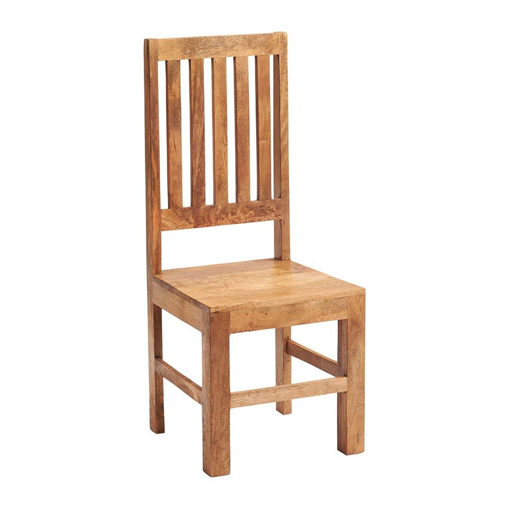 image-Toko Light Mango Furniture High Slat Back Dining Room Chair