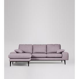 image-Swoon Tulum Left Corner Sofa in Lilac House Weave With Dark Feet