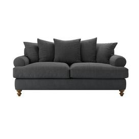 image-Teddy 2.5 Seat Sofa Bed in Charcoal Brushed Linen Cotton