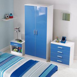 image-Carleton 3-Piece High Gloss Kids Bedroom Set