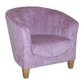 image-Rio Tub Chair J H Classics Upholstery: Angelina Ivory Pattern, Frame Finish: Beech