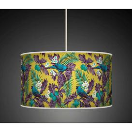image-Polyester Drum Shade Bay Isle Home Colour: Green/Turquoise, Size: 22cm H x 40cm W x 40cm D, Type: Ceiling/Wall