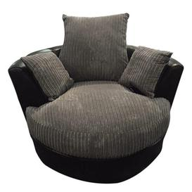 image-Zora Swivel Tub Chair Marlow Home Co. Upholstery: Grey