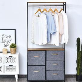 image-Czajkowski 83cm Wide Clothes Rack Rebrilliant