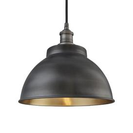 image-Brooklyn 1 Light Outdoor Pendant Industville Holder Finish: Pewter