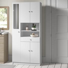 image-Curt 82cm x 180cm Free-Standing Tall Bathroom Cabinet Hashtag Home