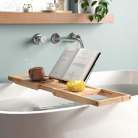 image-Parocela Bamboo Extendable Bath Rack Belfry Bathroom