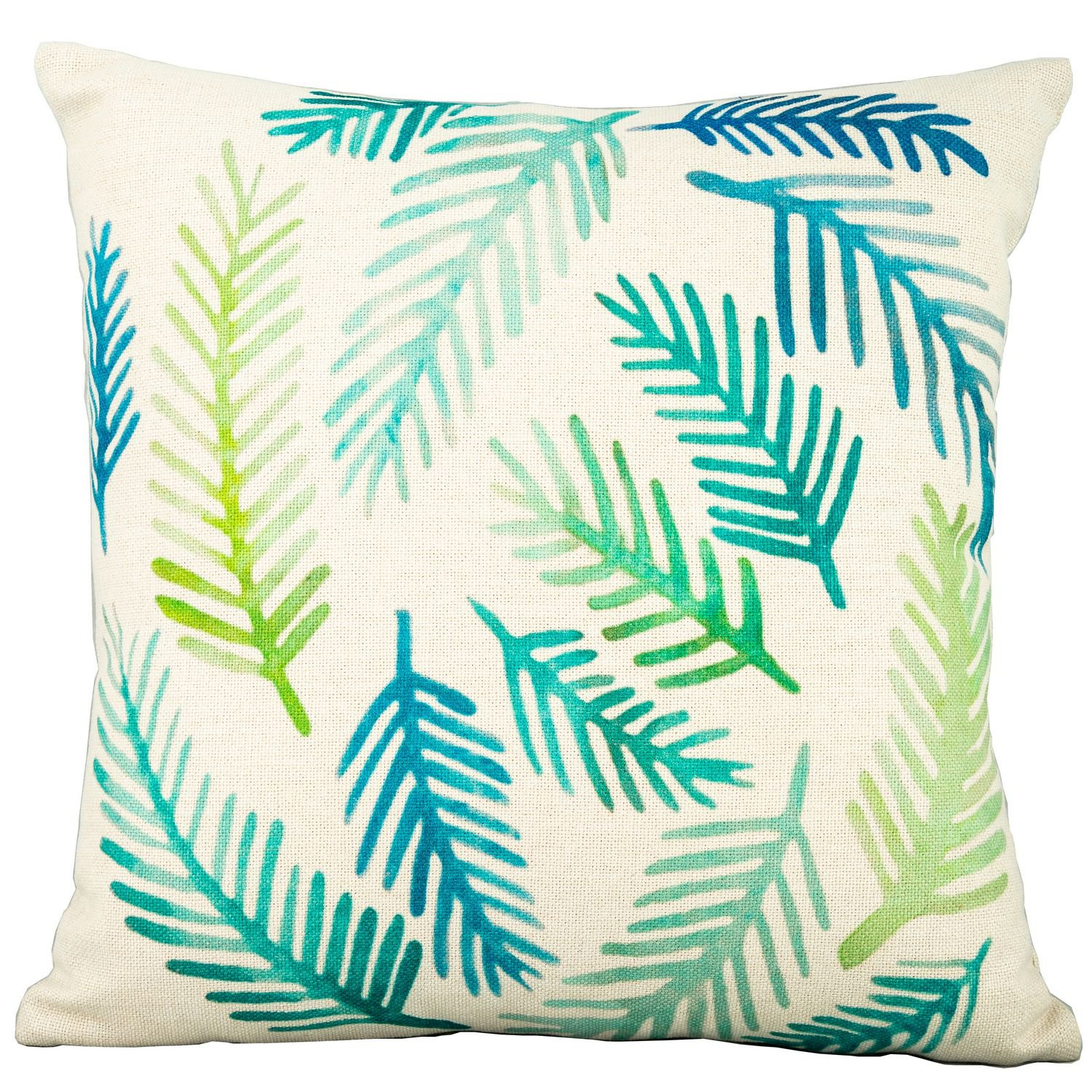 image-Royalcraft Garden Fern Leaf on White Scatter Cushion Set of 4