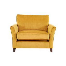 image-High Street Bond Street Fabric Loveseat - Yellow