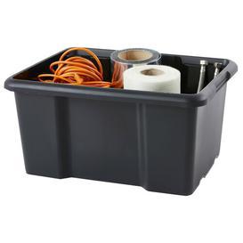 image-30 L Plastic Storage Box Rebrilliant Colour: Black