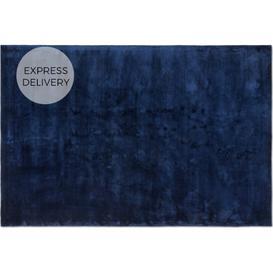 image-Merkoya Luxury Viscose Rug, Large 160 x 230cm, Midnight Blue