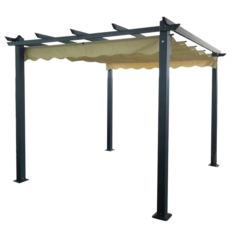 image-Signature Weave Garden Furniture 3.3m Pergola Beige