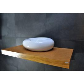 image-Tomball Wall Shelf with Towel Bar Mercury Row Tabletop colour: Oak