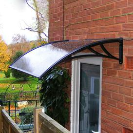 image-120 x 76 cm Door Canopy Awning Rain Shelter Cover Sol 72 Outdoor Colour: White/Black