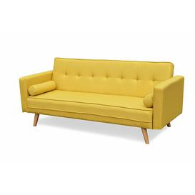 image-Mccarty 3 Seater Futon Sofa Mercury Row Upholstery Colour: Yellow