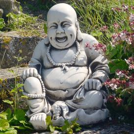 image-Buddhist Monk Sitting Effect Statue Sol 72 Outdoor Colour: Antique Stone