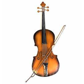 image-Violin Metal Wall Décor Happy Larry