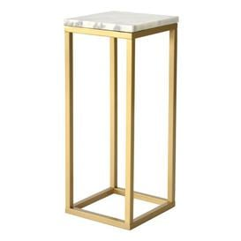 image-Pedestal Plant Stand Ivy Bronx Base Colour: Gold
