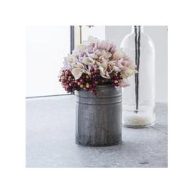 image-Gallery Pink Hydrangea With Metal Vase