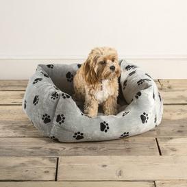 image-Large Snugpaws Square Dog Bed Grey