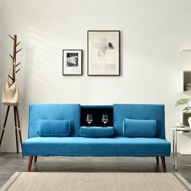 image-Godin 3 Seater Futon Sofa Corrigan Studio Upholstery Colour: Blue