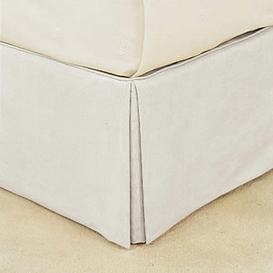 image-Bed Valance 100% Cotton, King Size - White