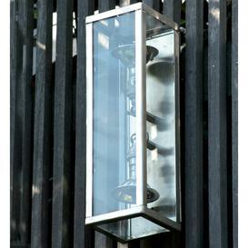 image-Eleni Outdoor Flush Mount Williston Forge Finish: Brushed Nickel, Bulb: AR70 50W