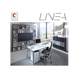 image-Linea Set B Office Room Furniture In Anthracite White