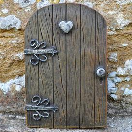 image-Decorative Heart Kingdom Love Fairy Pixie Elf Woodwork Garden Door Statue Sol 72 Outdoor