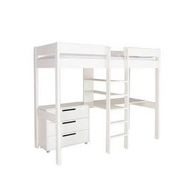image-Stompa High Sleeper With Desk, Drawers And Mattress Options (Buy And Save!) - Sleeper With Desk & Drawers Only