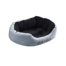 image-Geneva Classic Dog Bed Archie & Oscar Colour: Grey/Black, Size: Large: 80cm W x 110cm D x 23cm H