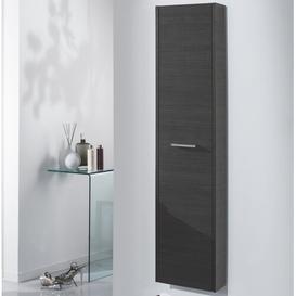 image-Mali 35 x 160cm Wall Mounted Tall Bathroom Cabinet Ebern Designs Finish: Grey Pine Wood
