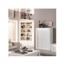 image-Pamela Bar Unit In White High Gloss With Lighting