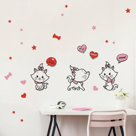 image-Disney Marie Wall Stickers MultiColoured