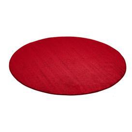 image-Round play mat KALLE, ├ÿ4000 mm, red