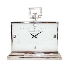 image-Libra Latham Medium Aluminium Rectangular Clock With Roman Numerals