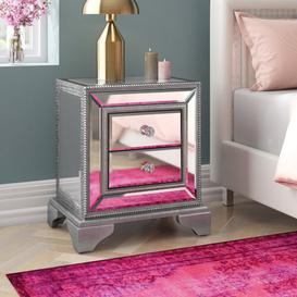 image-2 Drawer Bedside Table Willa Arlo Interiors