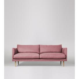 image-Swoon Luna Three-Seater Sofa in Rose Soft Wool