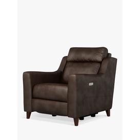 image-John Lewis & Partners Elevate Power Recliner Leather Armchair, Dark Leg