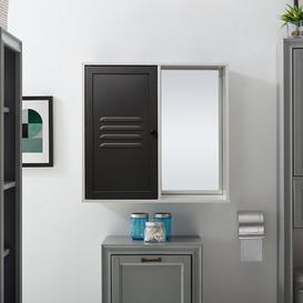 image-Henline 60cm X 57cm Surface Mount Mirror Cabinet Belfry Bathroom
