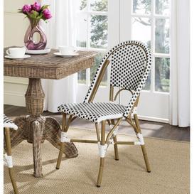 image-Charisse Stacking Dining Chair Dakota Fields Colour: Black/White