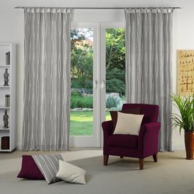 image-Cassian Tab top Room Darkening Single Curtain Wade Logan Colour: Light grey, Size: 135 W x 225 D cm