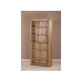 image-Country Oak Bookcase - 6ft Wide