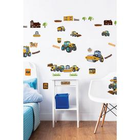 image-Walltastic My First JCB Muddy Friends Wall Stickers