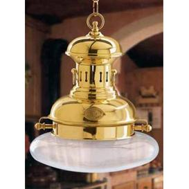 image-Galleon 2 Light Outdoor Pendant Moretti Luce Finish: Polished brass